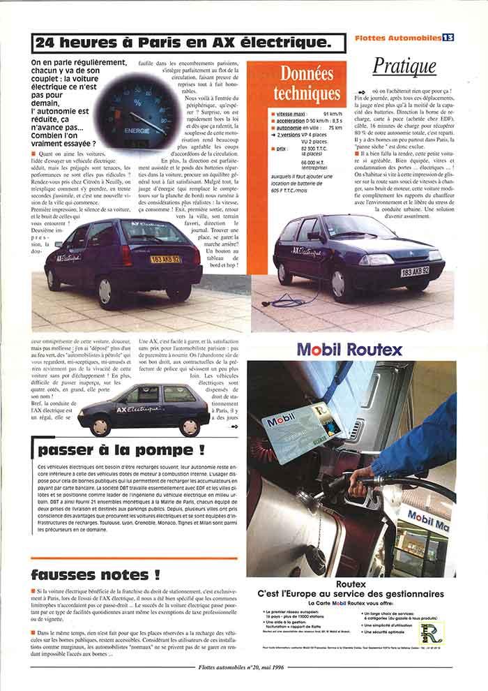Flottes Automobiles n° 20 de mai 1996