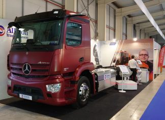 Mercedes Actros GNC transmission automatique