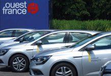 Le groupe de presse Ouest France s'appuie sur 14 véhicules en autopartage dont une Zoé électrique et la flotte devrait probablement accueillir en 2020 un grand modèle pour les trajets à plusieurs.