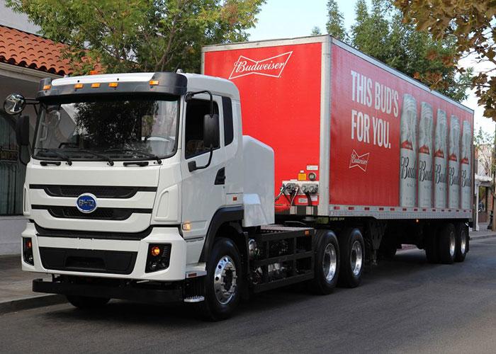 Camion électrique BYD pour Anheuser-Busch