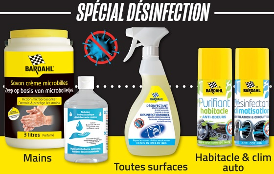 Bardahl désinfection