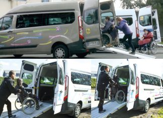 Santé au volant - Transporteur de personnes à mobilité réduite, Titi Floris forme chaque année ses conducteurs aux bonnes postures de conduite avec des kinésithérapeutes. Ces cours permettent aussi de mieux aider les clients à monter dans les véhicules.