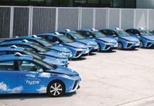 Total covering Megamark pour les taxis hydrogène Hype