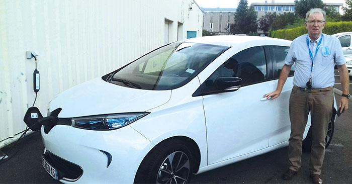 Renault Zoé du conseil départemental de la Moselle