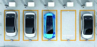 Place de parking réservée à un véhicule en autopartage en entreprise