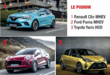 Podium véhicules hybrides segments A et B