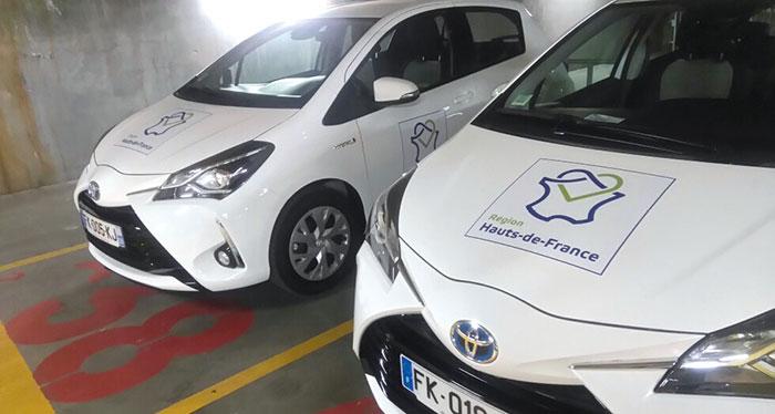 Toyota Yaris hybrides de la région Hauts-de-France