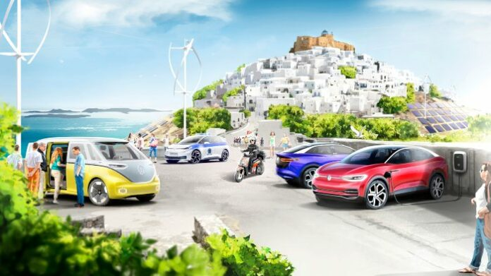 île vitrine Volkswagen