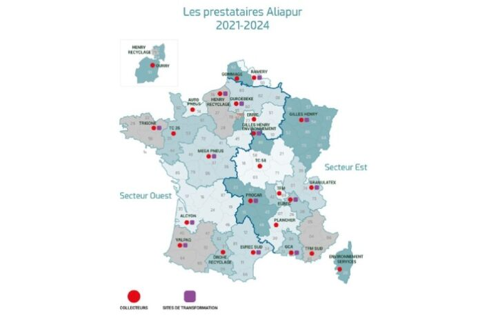 Aliapur éco-contribution pneus