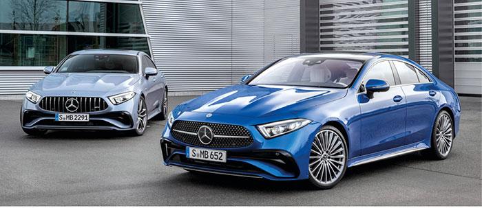 Chez Mercedes, le coupé 4 portes CLS s'équipe du 300d de 245 ch/152 g à 72 600 euros, du 400d de 340 ch/172 g à 83 600 euros et, en essence, du 450 MHEV de 367 ch/187 g à 76 800 euros et du 53 MHEV de 435 ch/206 g à 99 800 euros.
