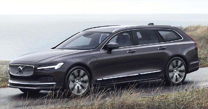Volvo mise sur son V90. Le T8 Recharge hybride aligne 390 ch/46 g pour 75 000 euros. Plus raisonnable, le turbo-diesel B4 de 197 ch/148 g offre un accès à la gamme à 56 050 euros et à 69 450 euros en B5 de 235 ch/154 g (transmission intégrale).