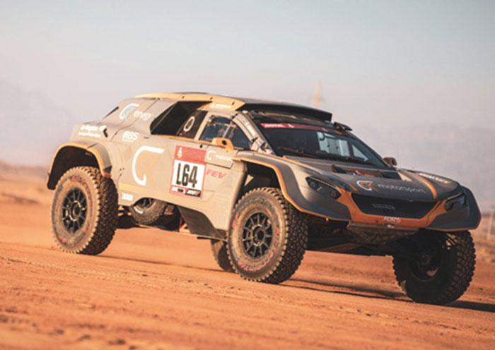 Véhicule hydrogène et PAC de GCK et FEV pour le Rallye Dakar 2023