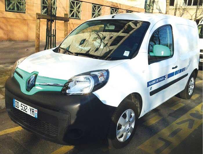 Véhicules électriques de la ville de Paris en autopartage