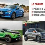 VP électriques 2021 - Podium segments A-B - Citadines et SUV urbains