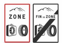 signalisation pneus hiver