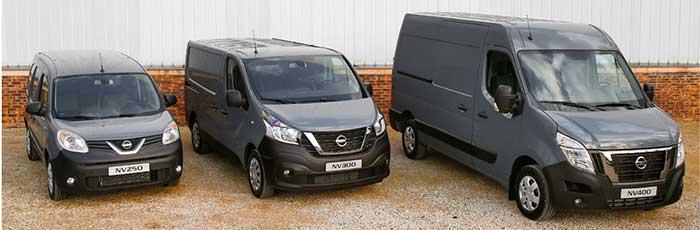 Pour ses trois utilitaires fabriqués dans l'Hexagone, Nissan commercialise une série spéciale « Made in France » qui souligne l'origine de ces modèles à l'équipement enrichi : NV250, soit un Kangoo rebadgé. NV300 (Trafic) et NV400 (Master).